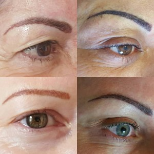 4 Brows different shapes and colours